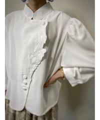 YESICA stand collar white shirt-2137-8