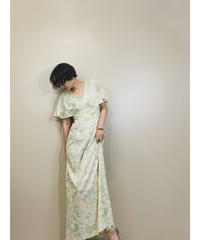 Feminine soft color  import vintage dress-1184-6