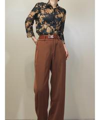 RESPIGHI vuntage flower design see-through shirt-1327-8