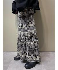 MADE IN U.S.A. geometric  long skirt-2187-9