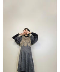 TOYOKO SAITO  silver glitter color long dress-1546-12