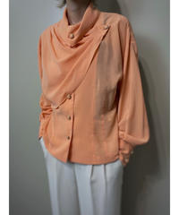 KOOS pale orange rétro cape collar shirt-2083-7