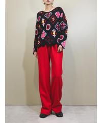 PENSOIO Per avanti floral crochet knit-1690-2