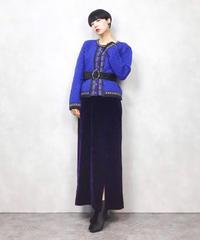 POLLAK IMP-EX CORP blue knit cardigan-739-12
