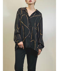 COLLETION black see-through shirt-1278-7