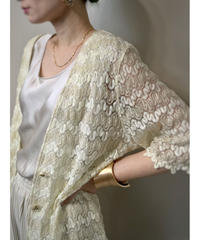Glitter design lace long cardigan-2087-7