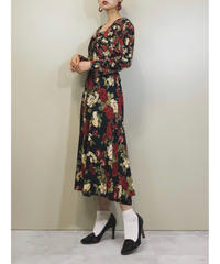 Karin stevens flower vintage  dress-1242-7