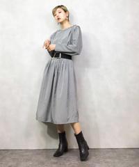 Genetpelsone gray stripe dress-1010-3