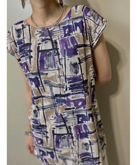 Artistic pattern french sleeve tops-2005-7