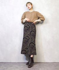 Three-dimensional sleeve knit cardigan-893-2
