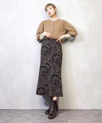 Three-dimensional sleeve knit cardigan-893-2