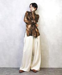 TREND brown see-through shirt-964-3
