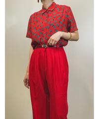 Yui Chantant red rétro shirt-1288-7