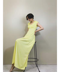 Bell design Iace collar yellow dress-1221-6