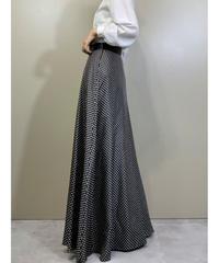 classical dot design maxi skirt-2025-7