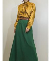 Saint Muse mustard color frill shirt-1597-1