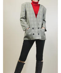 THE:move on power sleeve check jacket-1461-10