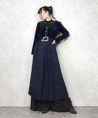 QOSSI vintage navy dress-687-11