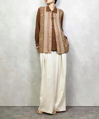 Bell Ellensen brown ethnic shirt-1101-5