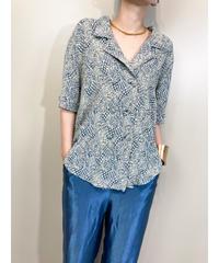 Original Rai jacquard fabric open collar shirt-1827-4