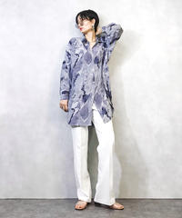 Nature blue oversize shirt-957-3