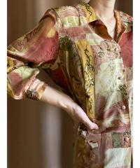 Gevana FRNCE warm color artistic shirt-2132-8
