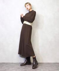 Viva Tine simple  brown dress-910-2