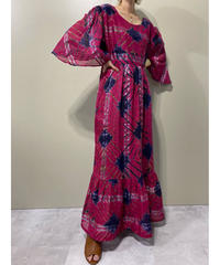 Tie dye design flare sleeve import dress-2100-8
