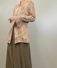 RECIPE orange color long shirt-1257-7