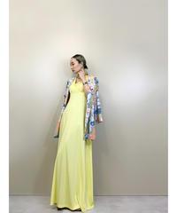 Bell design Iace collar yellow dress-1221-6