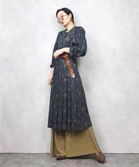 Gold flap paisley vintage dress-831-1