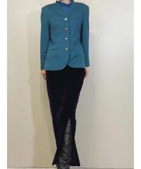AalceⅡcashmere cloth blue rétro jacket-1459-10