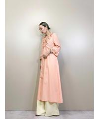 Petite fleur embroidery salmon pink dress-1893-5