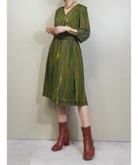 Matsuda Harue TOKYO moss green dress-1872-5