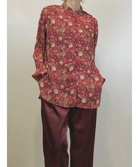 WHITE.STAG botanical rétro red shirt-1393-9