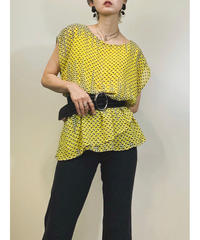 Bobeau yellow frill rétro tops-1307-8
