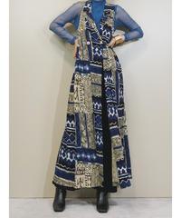 CL CAROLE LITTLE DRESSIS blue long vest-1341-8