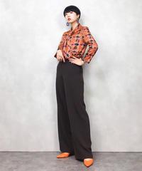 Individuality orange rétro shirt-710-11