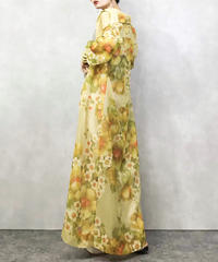 Fred Rothschild cream yellow maxi dress-1068-4