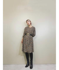 Paisley pattern black rétro dress-1731-3