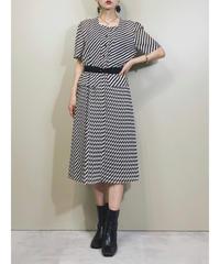 ROSIER striped pattern rétro dress-1874-5
