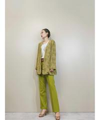 LA BELLE SAISON khaki color crocodile jacket-1388-9