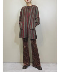 Ring fastener design wool stripe tunic-1544-11