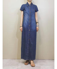 MODA blue long denim one-piece-1109-5