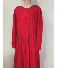 Tarah  Eligabeth red color import dress-1680-2
