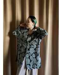 SeLeue jacquard fabric oversize jacket-2077-7