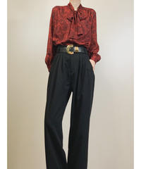 Lu Lu SAGAMI CO.LTD. red sheer shirt-1798-4
