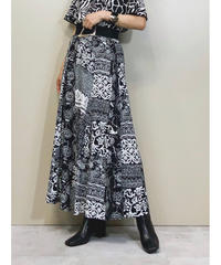 CASUAL CORNER monotone long skirt-1314-8