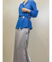 DARLING blue silk shirt-1239-7