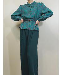 Bardau paisley pattern turquoise green shirt-1725-3